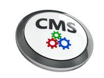 Black CMS icon isometry Stock Images