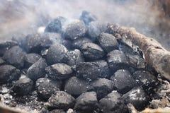 Black coal briquettes Royalty Free Stock Photos