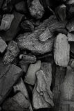 Black coal mineral as background, close-up Stock Images