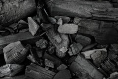 Black coal mineral as background, macro Stock Photo