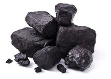 Black coal Royalty Free Stock Photos
