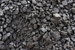 Black coal on a slag heap Royalty Free Stock Images