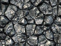 Black coal texture taken closeup as background. Stock Image