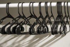 Black Coat Hangers Coathangers Stock Photography