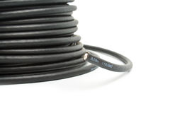 Black coaxial cable Stock Photo