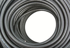 Black coaxial cable Royalty Free Stock Images