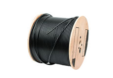 Black coaxial cable Royalty Free Stock Photo