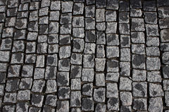 Black cobblestone road background Stock Photography