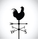 Black cockerel silhouette Royalty Free Stock Images