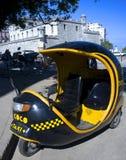 Black coco taxi - Havana, Cuba. This image shows a coco taxi in Havana, Cuba Stock Photos