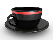 Black coffe cup over white background Stock Image