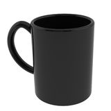 Black coffe mug Stock Photos