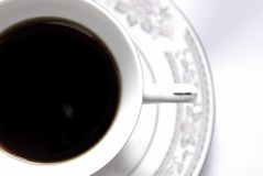 Black coffee. Cup with black coffee, close-up Stock Photography