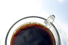 Black Coffee. In glass cup Royalty Free Stock Photo