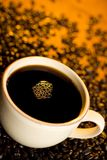Black Coffee. Cup of black coffee from above Stock Photos