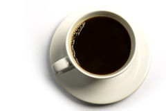 Black coffee. On white background Stock Images