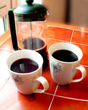 Black Coffee. Coffee and caffettiere Stock Photos