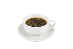 Black coffee with added butter, accompanied with butter cookie Stock Images