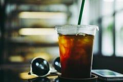 Black coffee or Americano. royalty free stock photo