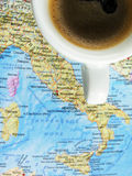 Black coffee attractions Italy Stock Photography