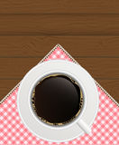 Black Coffee Background. Photo-Realistic Vector Royalty Free Stock Photography
