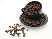 Black Coffee Bean Spill Royalty Free Stock Image