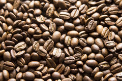 Black coffee beans. Top view Royalty Free Stock Photo