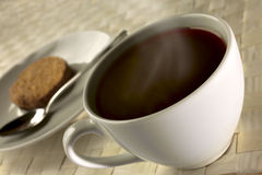 Black coffee for breakfast close up Royalty Free Stock Photo