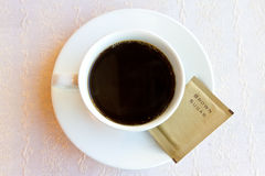 Black coffee with brown sugar Royalty Free Stock Photo
