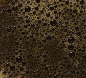 Black coffee bubbles Stock Photography