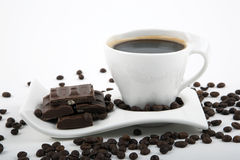 Black coffee with chocolate Royalty Free Stock Images