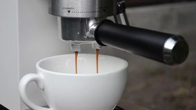 A fresh boiled espresso coffee stock footage
