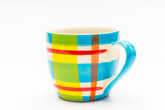 black coffee in color coffee mug Royalty Free Stock Images