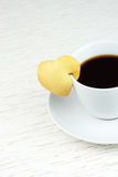 Black coffee with cookie Royalty Free Stock Photography