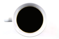Black coffee with cookie isolated Stock Images