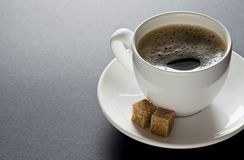 Black Coffee with Copyspace Royalty Free Stock Photography