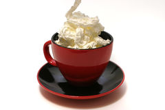 Black coffee and cream Royalty Free Stock Photo