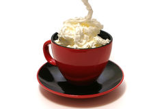 Black coffee and cream Royalty Free Stock Photos