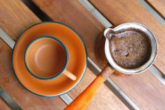 Black coffee cup Royalty Free Stock Photos