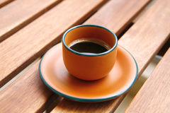 Black coffee cup Stock Photography