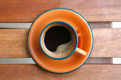 Black coffee cup Stock Photos