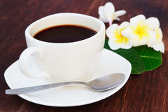 Black coffee. A cup of beans Stock Photography