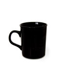 Black coffee cup with clipping path symbol logo Royalty Free Stock Image
