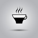 Black coffee cup icon Royalty Free Stock Image