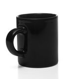 Black coffee cup, isolated Royalty Free Stock Photos