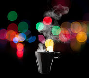 Black coffee cup Stock Images