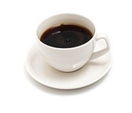 Black coffee cup isolated on white Royalty Free Stock Photo