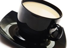 Black coffee cup isolated on white Stock Image