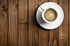 Black coffee in the cup Royalty Free Stock Photography