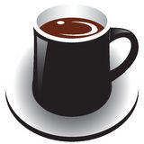 Black Coffee cup Stock Image